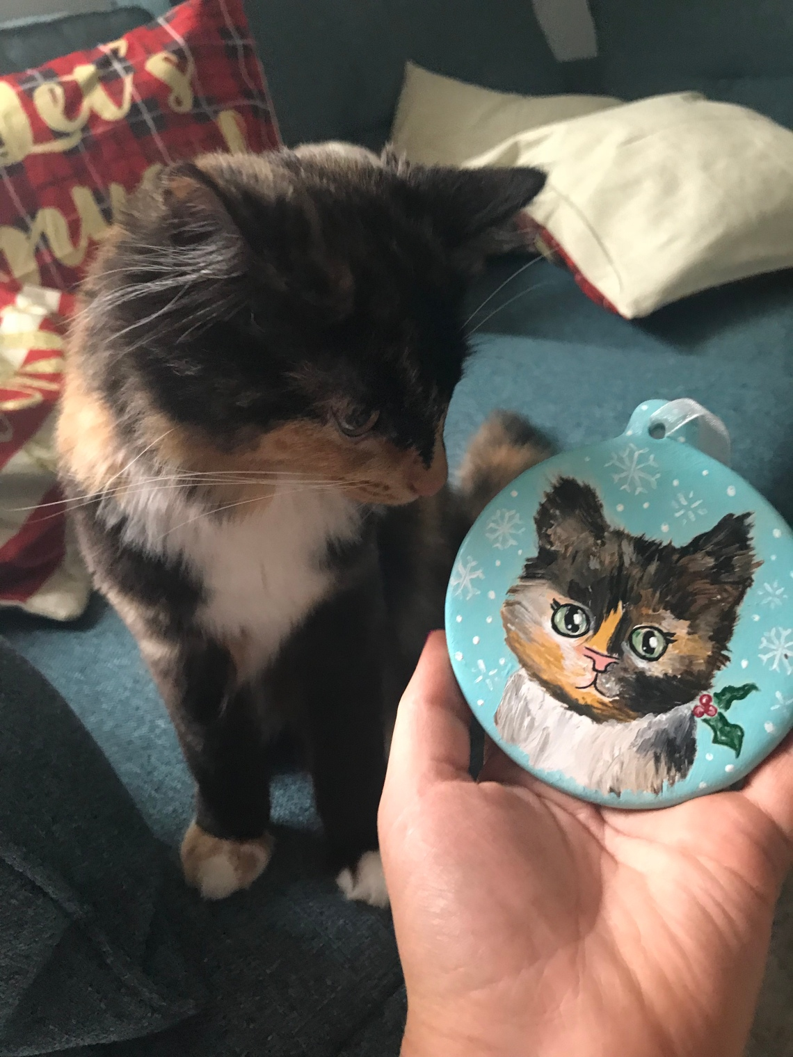 *Kali bauble painted by me!